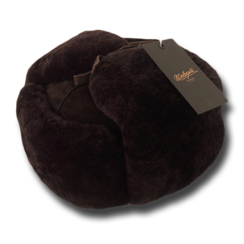 Ushanka sheepskin fur hat Brown