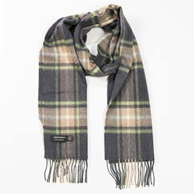 John Hanly Merino wool Irish tartan scarf 01