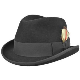Cappello a homburg trilby Nashville hat in lap