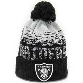 New Era Berretto pom pon NFL Oakland Raiders