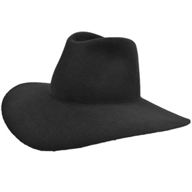 Melegari Tabarro hat Ezra Pound curved hat Black
