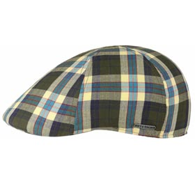 Stetson Texas Cotton check Flatcap