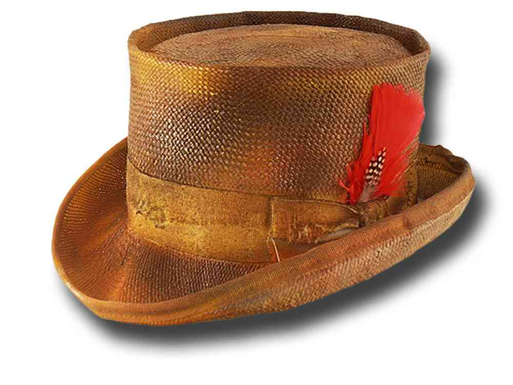 Summer Western Desert Rat straw Top Hat Dusty