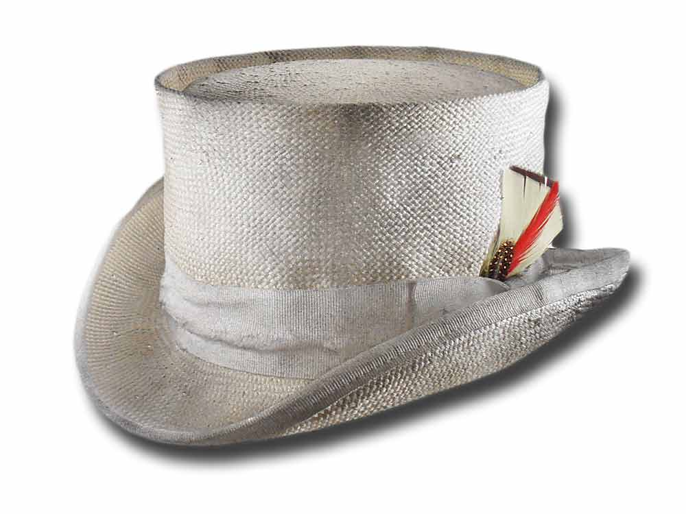 Cappello cilindro estivo paglia Western Desert Rat Top Hat Dusty