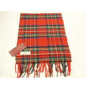 John Hanly Lambswool Irish tartan scarf 24