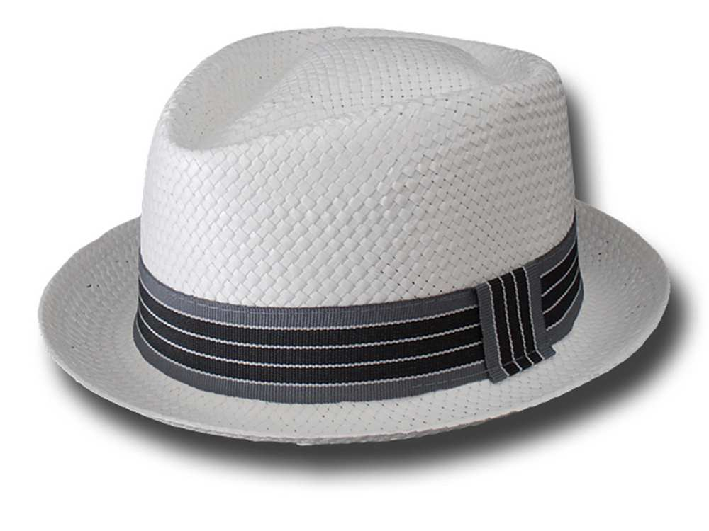Melegari Pork pie hat jazz cellulose White