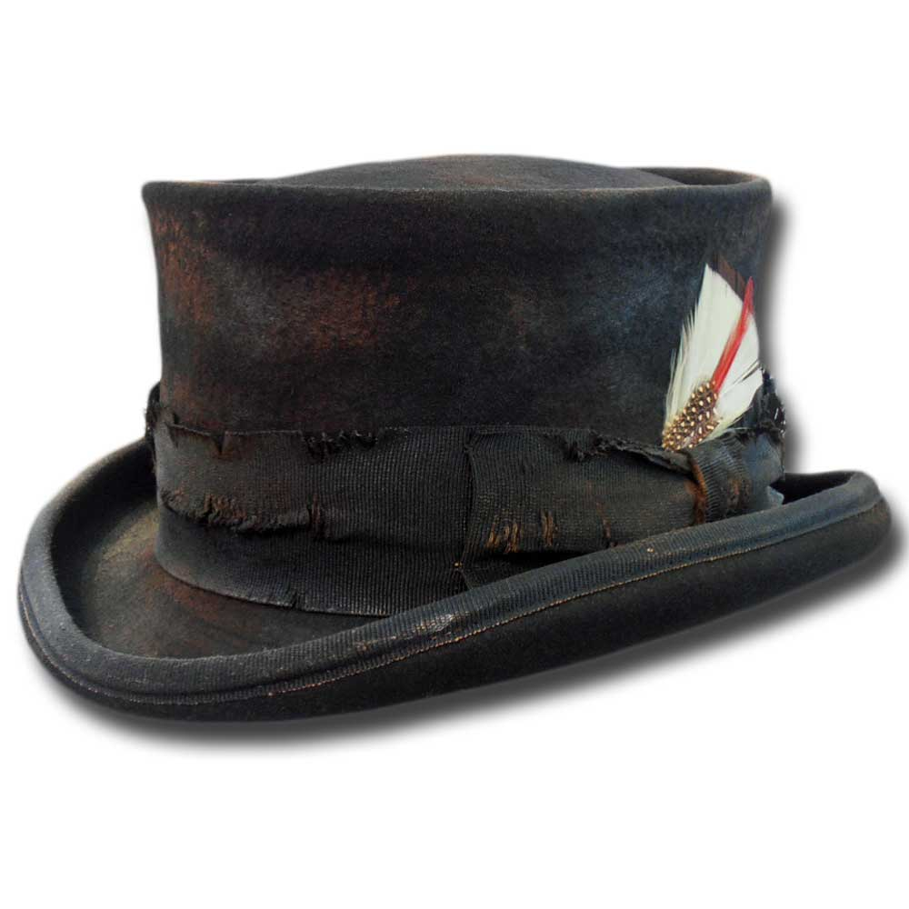 Western Desert Rat Top Hat Aged Dusty