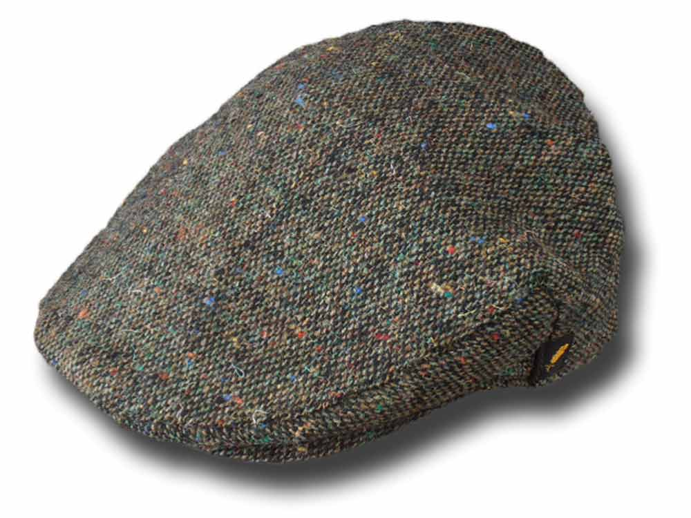 Hatman of Ireland Casquette plate en tweed Dubliner Brun