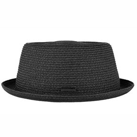 Stetson Black Pork Pie Straw Toyo Hat