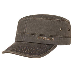 Stetson Berretto Datto cotton distressed army