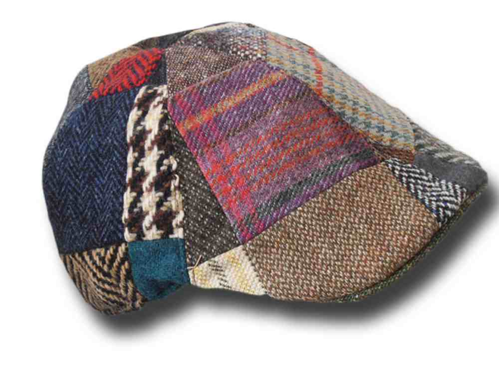 Irish patchwork toning wool duck cap Hanna Hat