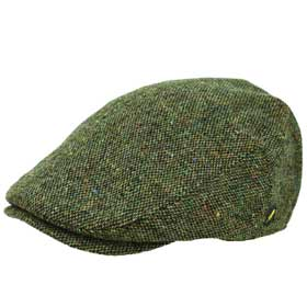 Hatman of Ireland Dubliner Tweed flache Kappe