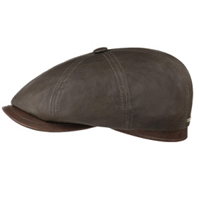 Stetson Hatteras Lambskin leather cap