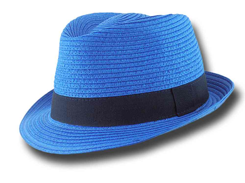 Cappello estivo trilby in cellulosa Aimar Blu Royal