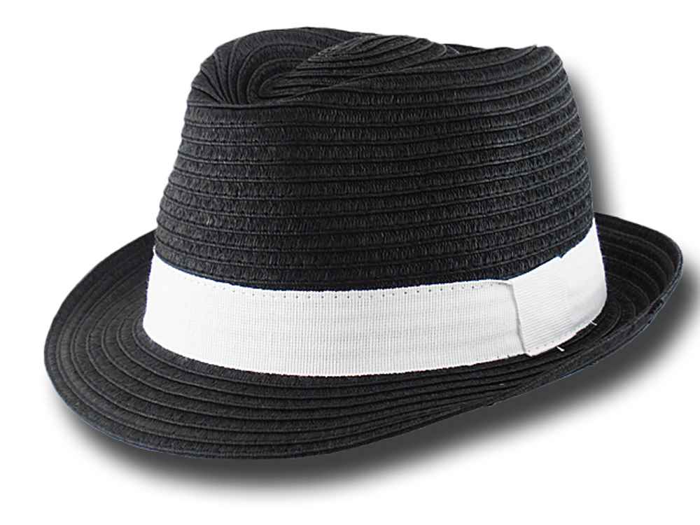 Cappello estivo trilby in cellulosa Aimar Nero