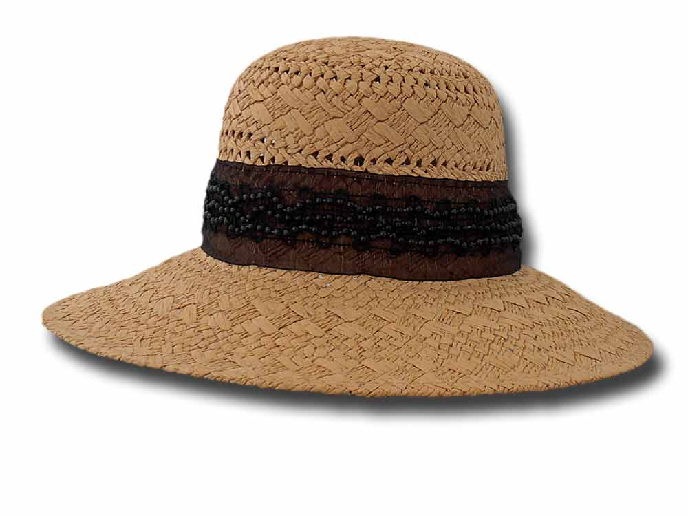 Complit Summer woman hat Pamela ribbon black p