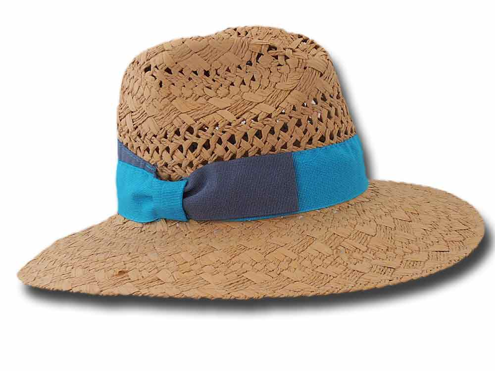 Melegari Summer woman hat Venditti turquoise r