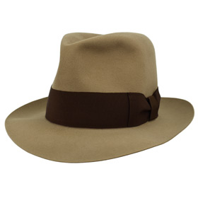 Cappello Fedora Keith Richards antiqued Beaver