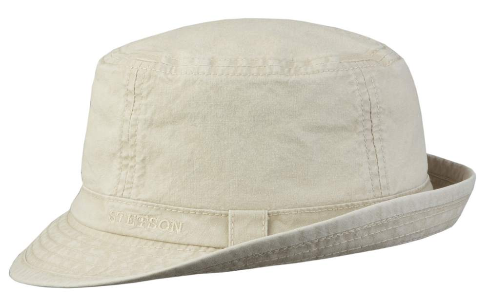 Stetson Cappello trilby in cotone Boston Gande