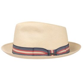 Stetson Cappello Panama Player Stripe