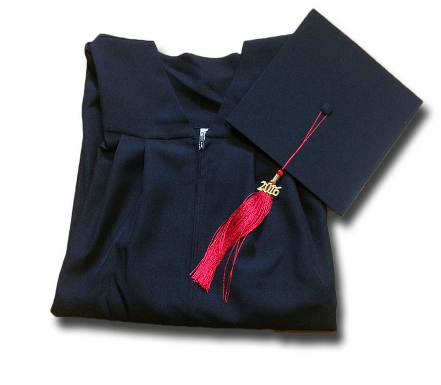B2B Set Graduation Gown + Graduation Hat  00 W