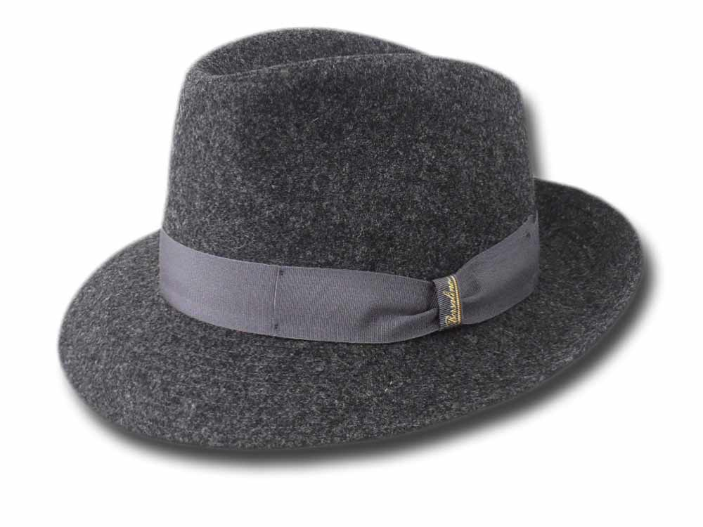 Borsalino man Wool Hat Dark gray