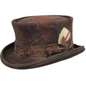 Cappello a cilindro Western Desert Rat Top Hat Aged