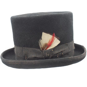 Funky Aged Top Hat Black