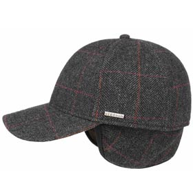 Stetson Berretto baseball lana tweed con parao