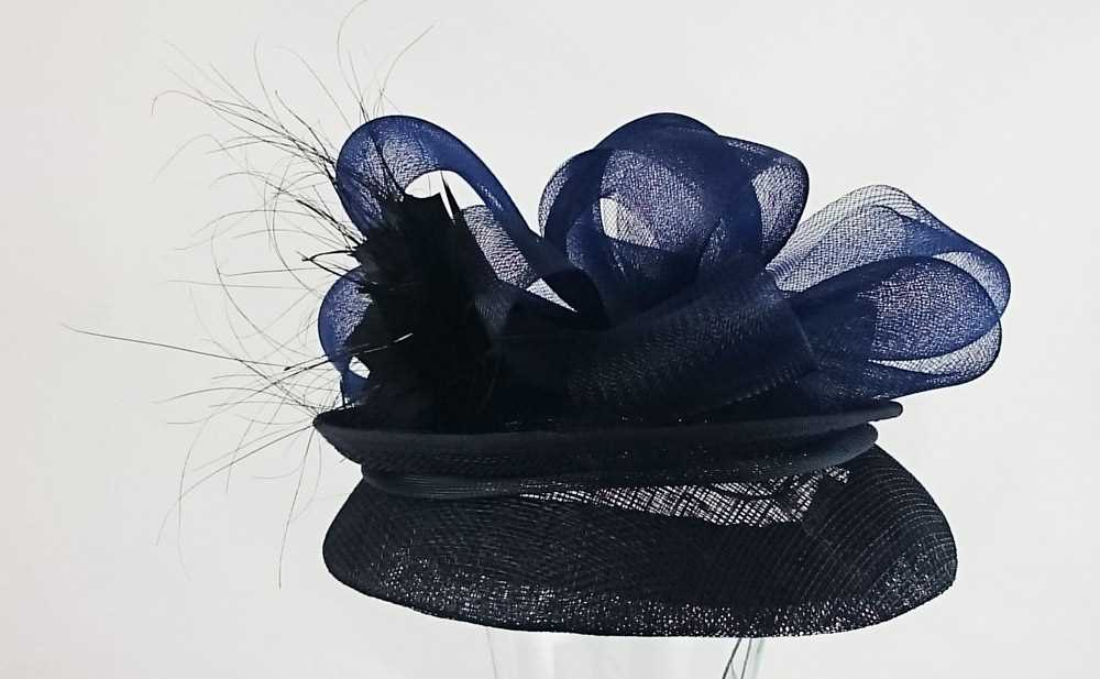 Marzi hats Wedding hat Denisa Blue