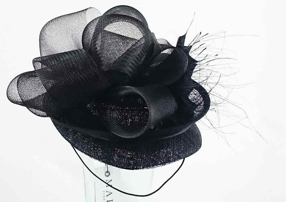 Marzi hats Wedding hat Denisa Black