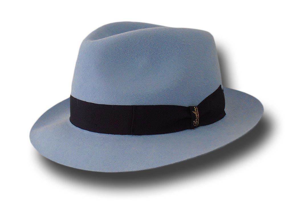 Borsalino Cappello Bogart Sfoderato Azzurro  c44ce131e097