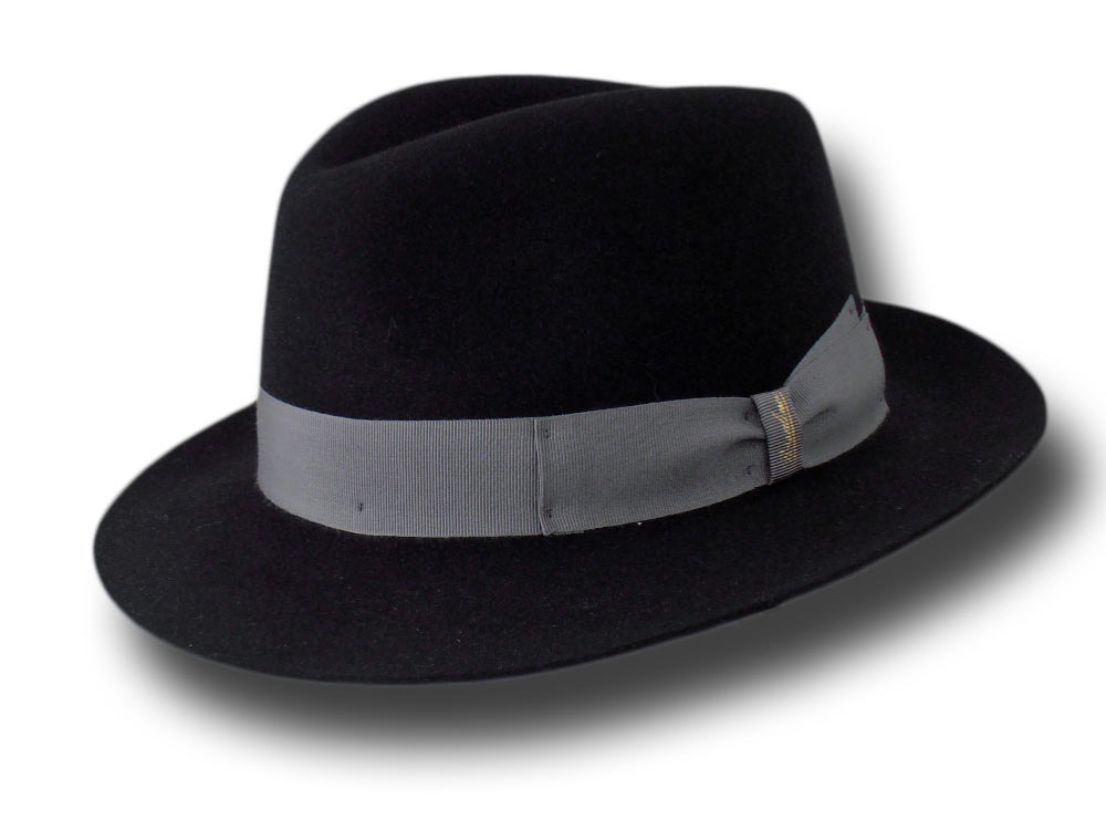 Borsalino Cappello open crown Sfoderato Nero