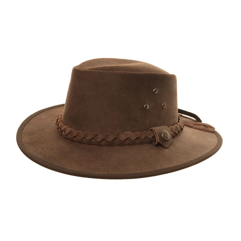 Hawkins Aussie Hat Gibson Desert real leather