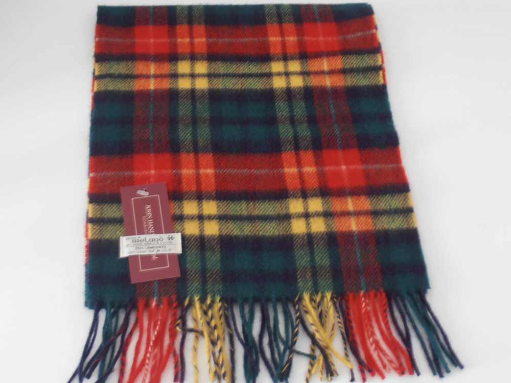 Lambswool Irish tartan scarf J.Hanly 5