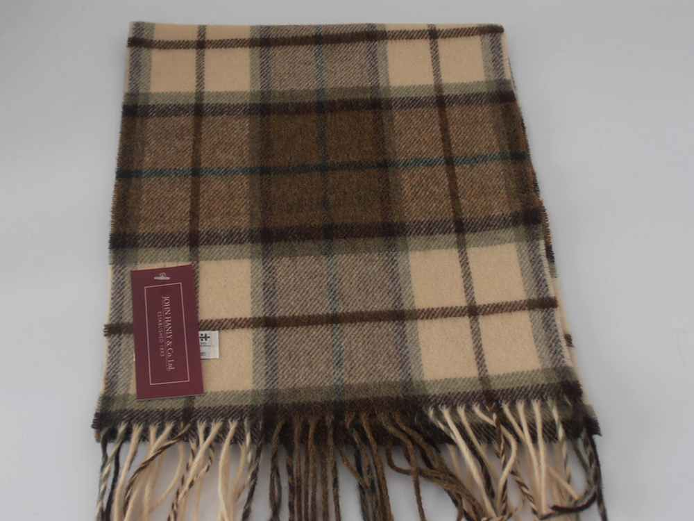 Lambswool Irish tartan scarf J.Hanly 1