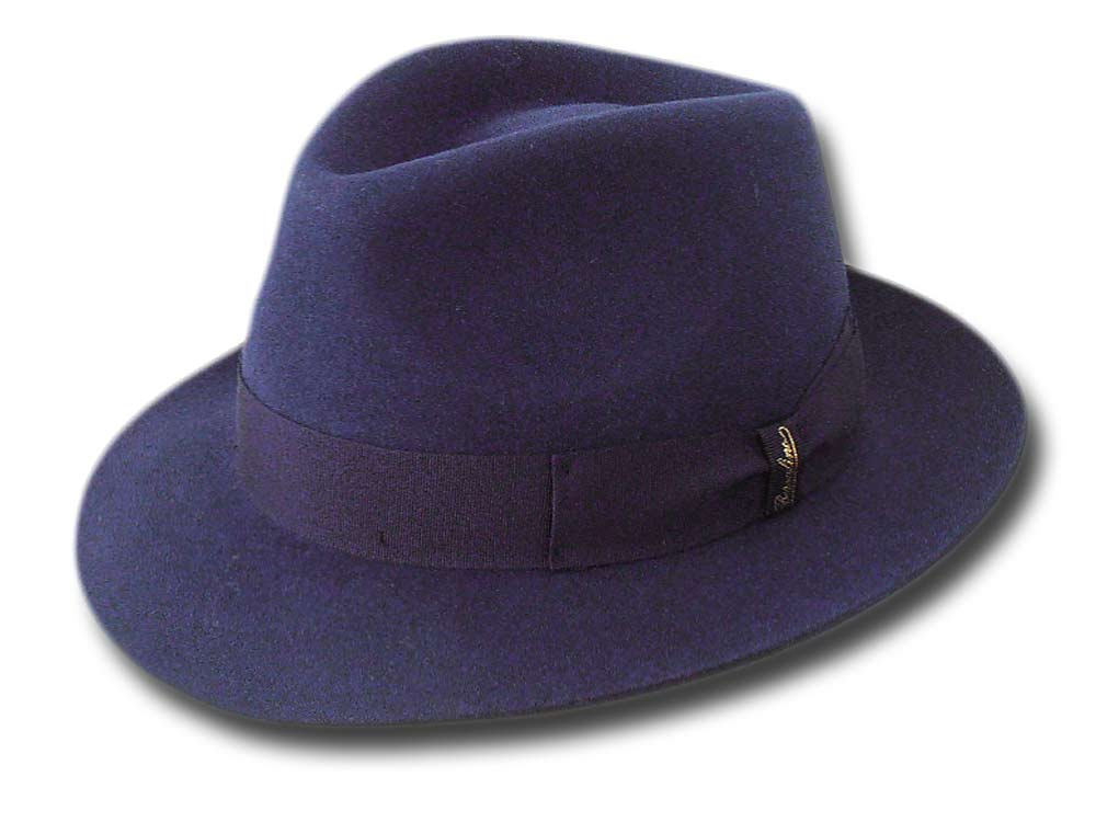 Borsalino Cappello open crown Sfoderato Blu