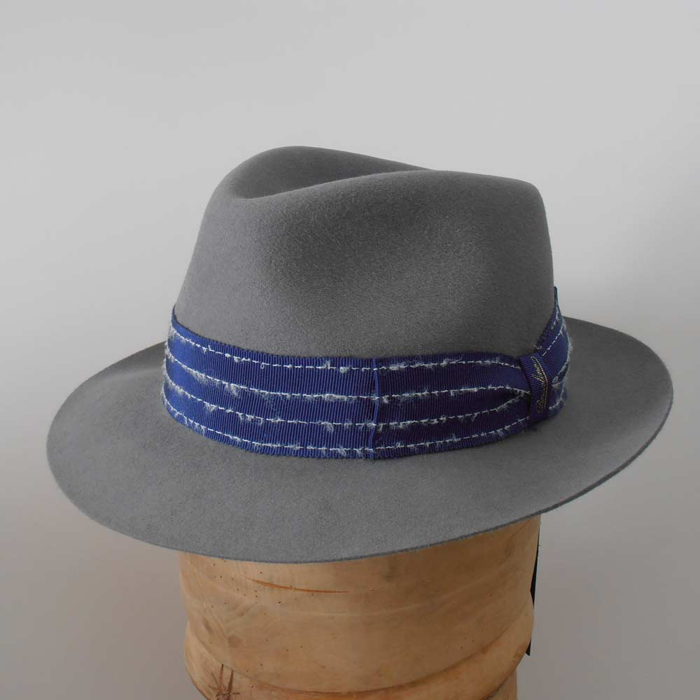 Borsalino Cappello open crown Street stripes