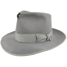 Fedora Johnny Depp Hut Top Qualität antiqued Grau