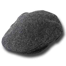 John Hanly Irish Herringbone tweed Flatcap