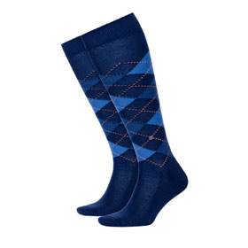 Burlington Socks man Preston Blue marine